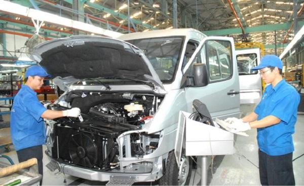Sản xuất, lắp ráp ô tô tại một doanh nghiệp FDI