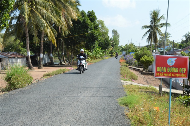 Diện mạo nông thôn của huyện Giồng Riềng ngày càng đổi mới