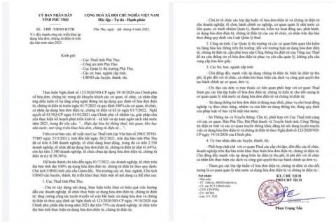 Đẩy mạnh ứng dụng hóa đơn chứng từ điện tử trên địa bàn tỉnh Phú Thọ