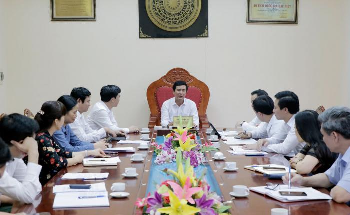 Phó Chủ tịch UBND tỉnh Phú Thọ- Hồ Đại Dũng chủ trì họp Ban Tổ chức Giỗ Tổ Hùng Vương tại Đền Hùng.