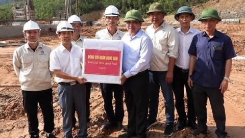 Quảng Bình: Khởi công chặn dòng, dẫn dòng dự án hệ thống thủy lợi Rào Nan
