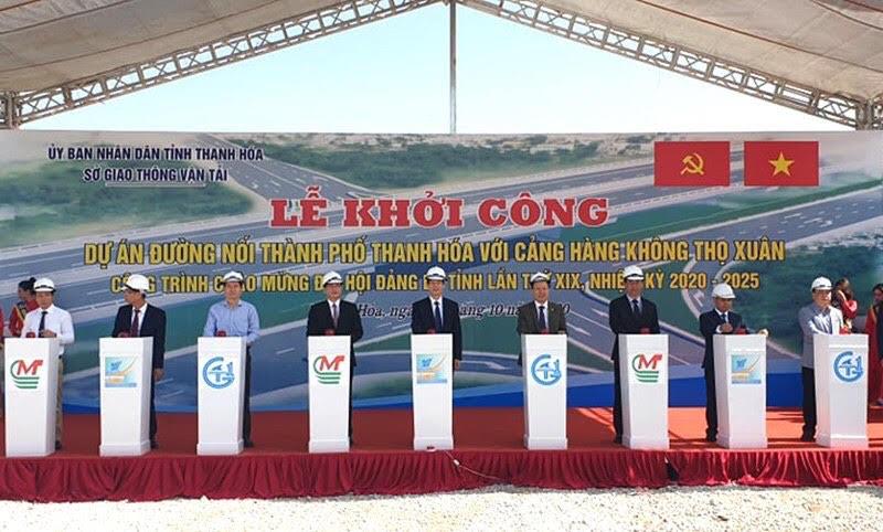 Khởi công dự án Đường nối TP Thanh Hóa với Cảng hàng không Thọ Xuân