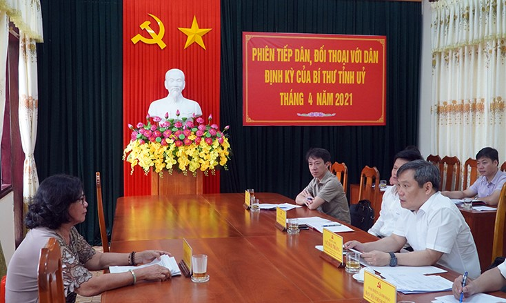 Quảng Bình: Lãnh đạo tỉnh tiếp công dân định kỳ tháng 4/2021