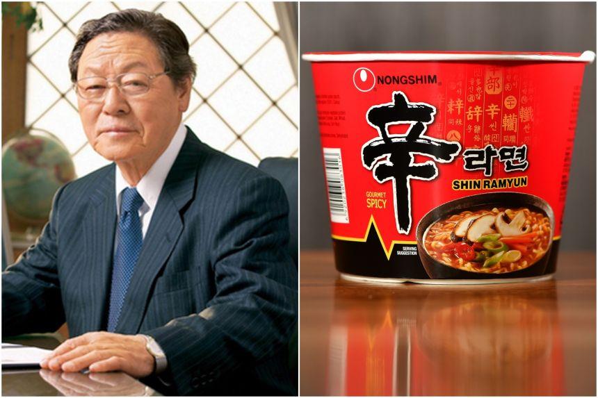 Sau khi thành lập Nongshim, ông dẫn dắt công ty trở thành nhà sản xuất mỳ ăn liền lớn nhất ở Hàn Quốc và lớn nhất thế giới. Ông là người đặt tên cho một số sản phẩm mỳ nổi tiếng của công ty. Nguồn ảnh: Internet