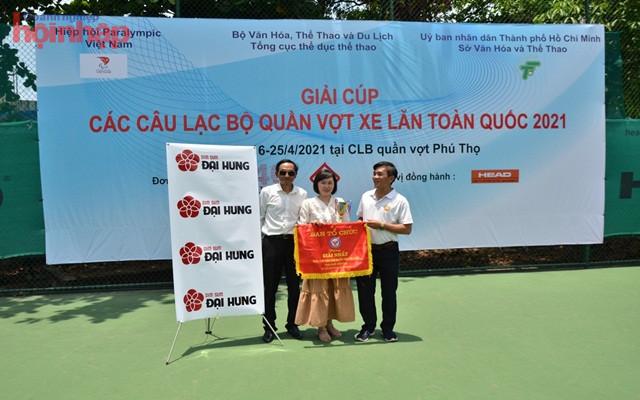 Công ty TNHH đầu tư kinh doanh thực phẩm quốc tế Đại Hưng NTT cho giải Cup các CLB Quần Vợt Xe Lăn toàn quốc 2021.
