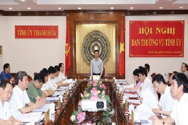 Bí thư tỉnh ủy Đỗ Trọng Hưng chủ trì hội nghị