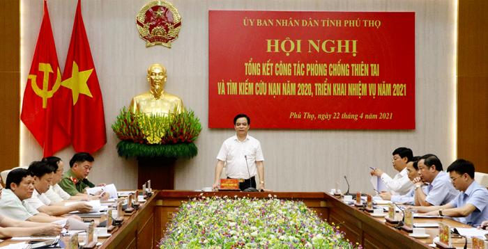 Phó chủ tịch UBND tỉnh Phú Thọ- Nguyễn Thanh Hải phát biểu tại hội nghị