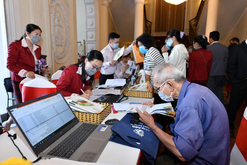 Cổ đông check in tại Đại hội đồng cổ đông thường niên HDBank 2021