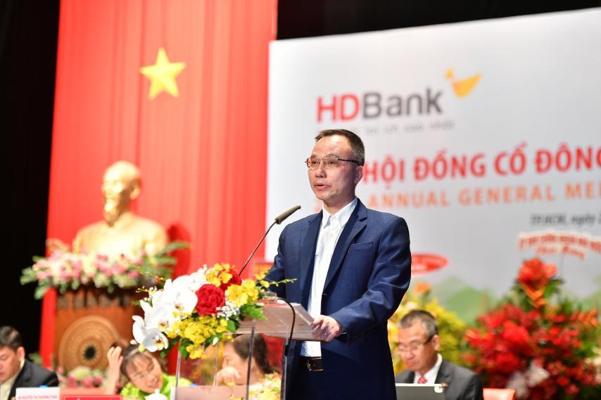 Ông Nguyễn Duy Phương – Phó Cục trưởng Cục thanh tra giám sát ngân hàng nhà nước Việt Nam phát biểu tại Đại hội