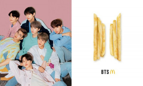 Thương hiệu thức ăn nổi tiếng lập menu lấy tên nhóm nhạc BTS