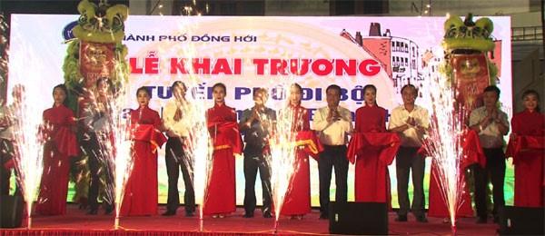 Quảng Bình: Khai trương phố đi bộ, mở màn cho tuần văn hóa – du lịch Đồng Hới 2021