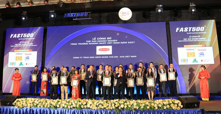 """Dai-ichi Life VN: """"Top 500 Doanh nghiệp tăng trưởng nhanh nhất Việt Nam"""""""