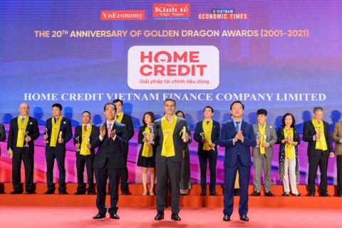 Home Credit lần thứ 7 liên tiếp nhận giải thưởng Rồng Vàng dành cho doanh nghiệp FDI tiêu biểu