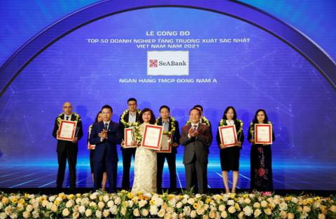 """SeABank được vinh danh trong """"Top 50 doanh nghiệp tăng trưởng xuất sắc nhất Việt Nam"""""""