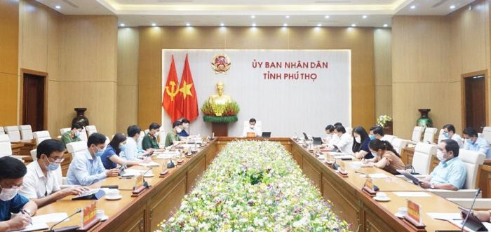 UBND tỉnh Phú Thọ họp khẩn vì có ca dương tính Covid-19.
