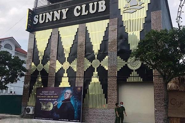 Quán Bar Sunny (Khu Đô thị Đồng Sơn, Phúc Yên) đã bị thu hồi giấy chứng nhận đăng kí hộ kinh doanh