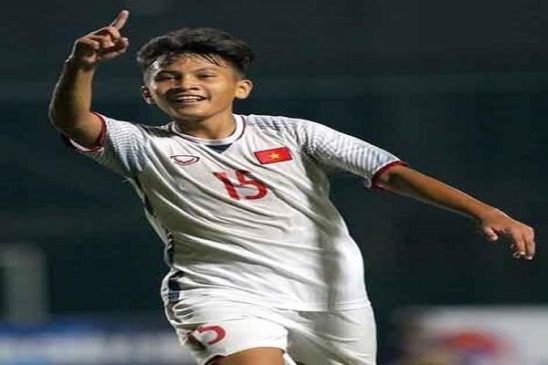 Cầu thủ tiền vệ Nguyễn Công Sơn, gương mặt sáng giá của Đông Á Thanh Hóa và U18 Quốc gia