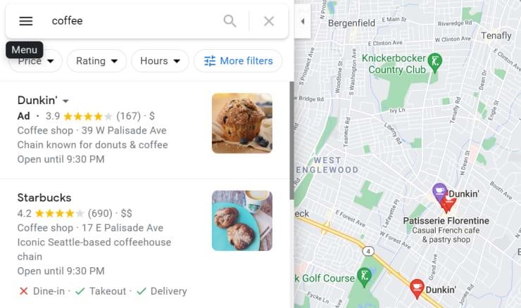 Quảng cáo trong Google Maps