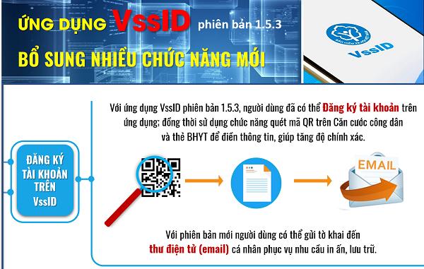 Ứng dụng VssID - phiên bản mới 1.5.3: Thêm nhiều chức năng hữu ích