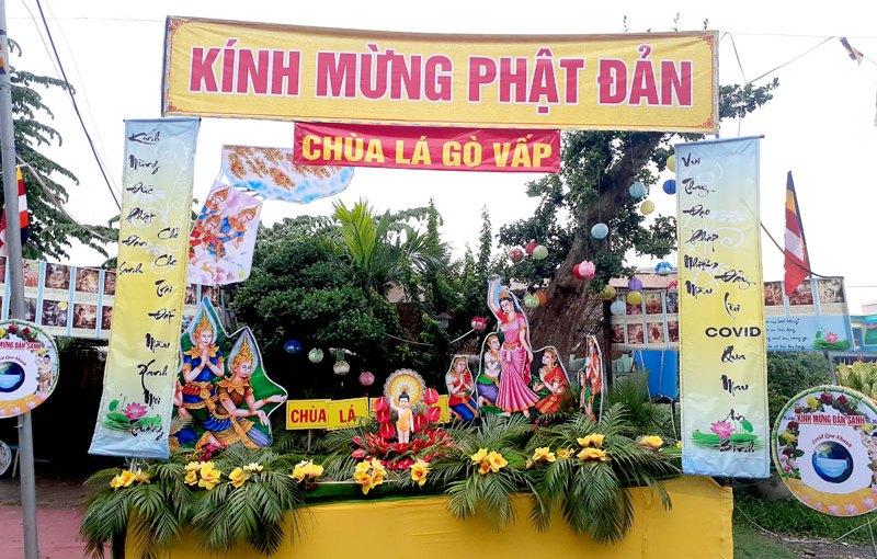 Mừng Phật đản ở chùa Lá (Quận Gò Vấp)