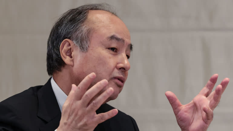 Masayoshi Son của SoftBank Group nói chuyện với Nikkei Asia tại Tokyo trong một cuộc phỏng vấn vào ngày 13 tháng 5. (Ảnh của Masaru Shioyama)