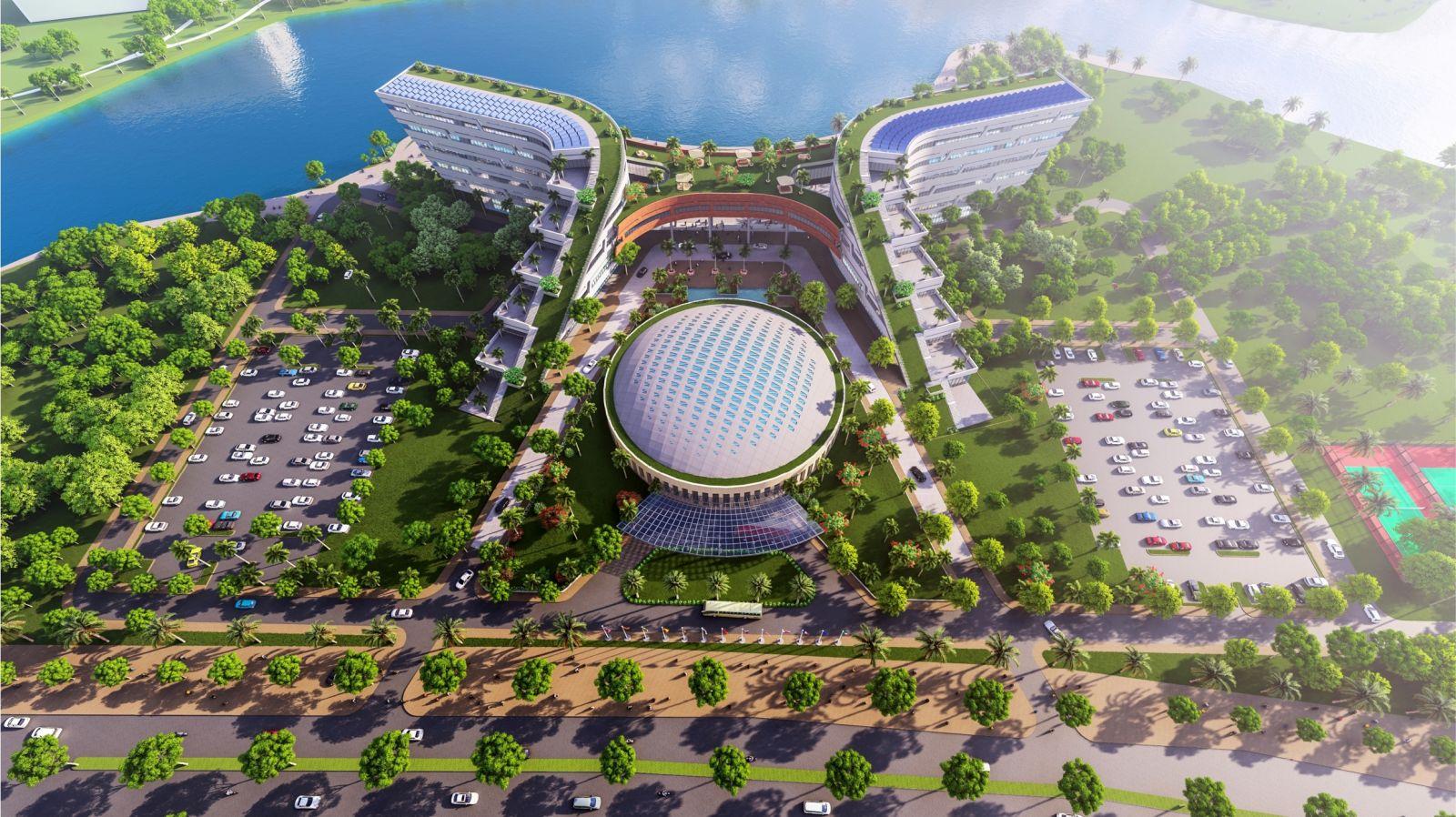 Phối cảnh NIC cơ sở Hòa Lạc khởi công vào đầu năm 2021