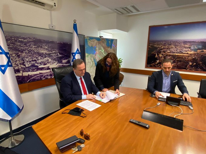 Bộ trưởng Tài chính Israel Katz ký hiệp định theo hình thức trực tuyến với người đồng cấp UAE