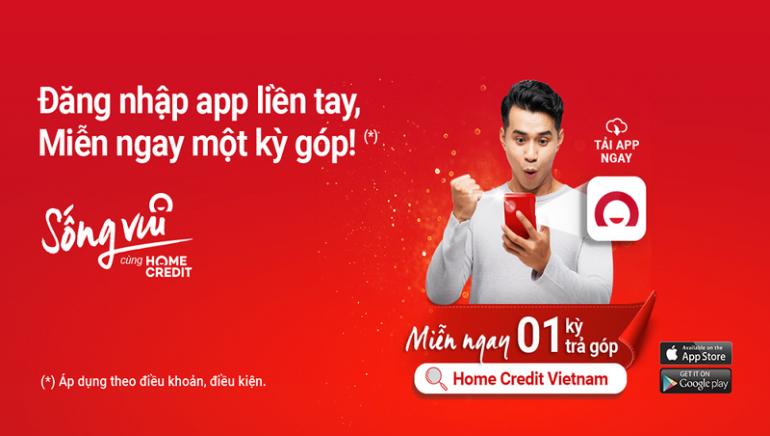 Miễn ngay một kỳ trả góp khi đăng nhập ứng dụng Home Credit