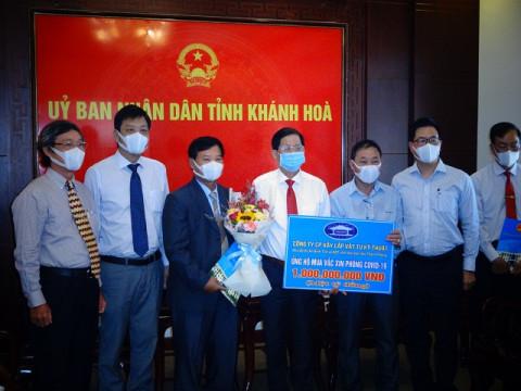 Khánh Hòa: Tiếp nhận ủng hộ của các doanh nghiệp trên địa bàn tỉnh để mua vác xin phòng chống covid -19