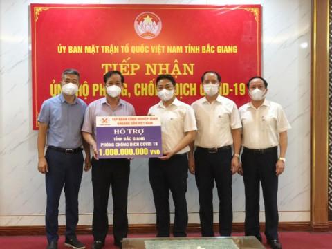 Tập đoàn Công nghiệp Than - Khoáng sản Việt Nam hỗ trợ tỉnh Bắc Giang 1 tỷ đồng phòng, chống dịch COVID-19