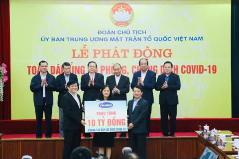 Vinamilk chung tay cùng Chính phủ, góp quỹ Vacxin phòng Covid 19