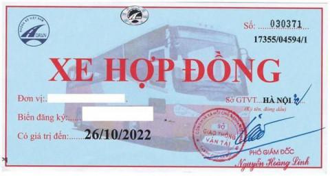 Sở GTVT Hà Nội : Một số đơn vị vận tải tự ý thu thêm tiền đổi phù hiệu xe hợp đồng dưới 9 chỗ