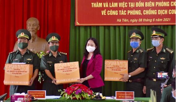 Phó Chủ tịch nước Võ Thị Ánh Xuân thăm và làm việc tại Kiên Giang về công tác phòng, chống dịch trên tuyến biên giới