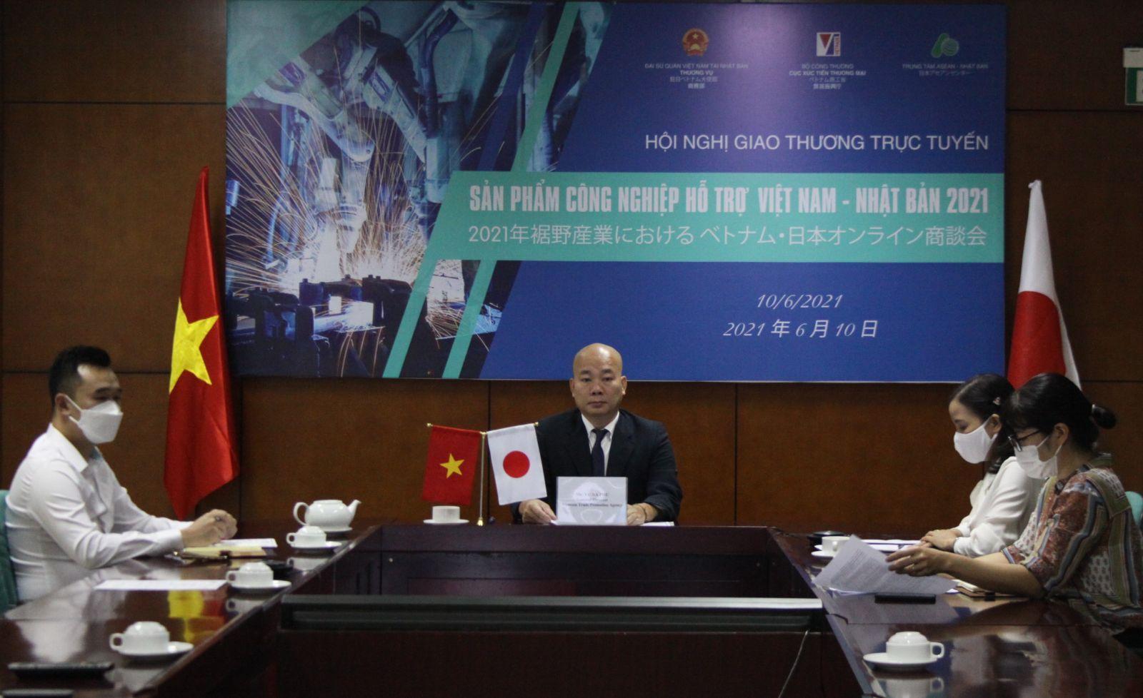 Ông Vũ Bá Phú – Cục trưởng Cục Xúc tiến thương mại chủ trì hội nghị