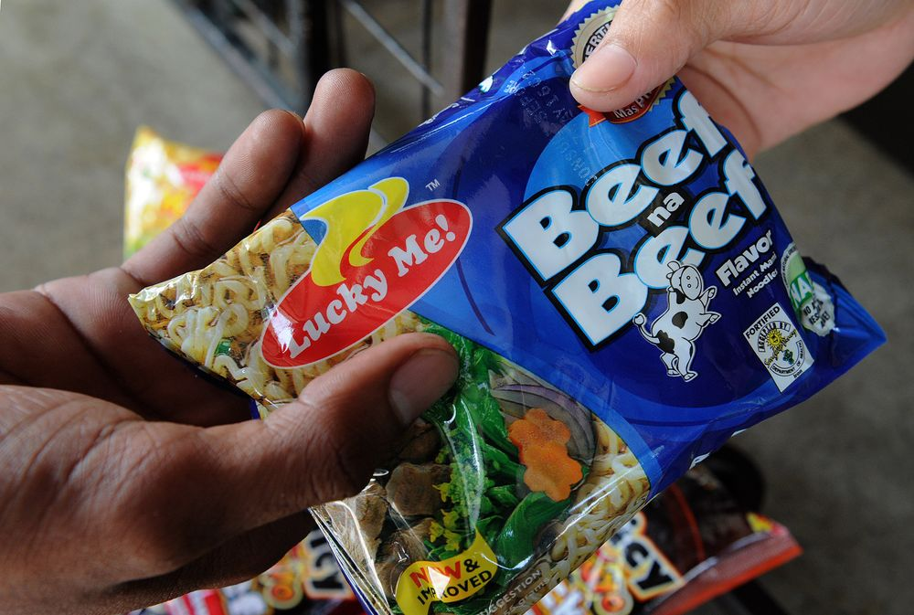 Lucky Me! instant noodles. Photographer: Jay Directo/AFP/Getty Images