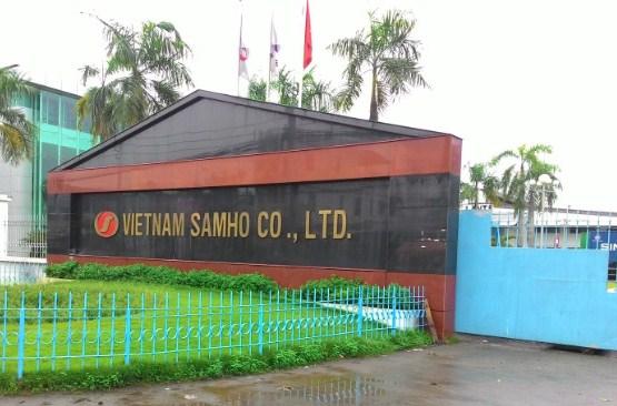 Công ty TNHH Việt Nam Samho, huyện Củ Chi, với khoảng 10.000 công nhân