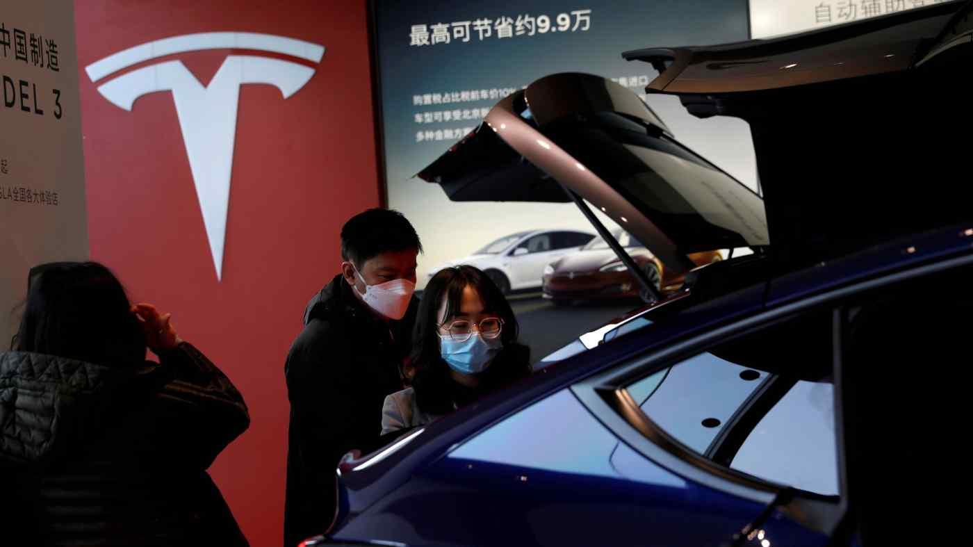 Tesla đã bị chính quyền Trung Quốc nghi ngờ về việc chuyển dữ liệu xuyên biên giới do xe điện của họ thu thập. © Reuters