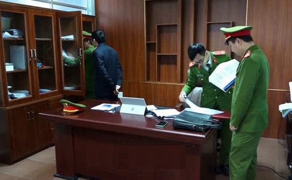 Công an tỉnh Quảng Bình thực hiện lệnh khám xét chỗ làm việc đối với Trương Tấn Lâm