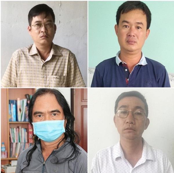 Bị can Nguyễn Thanh Hùng, Trương Minh Giàu, Nguyễn Viết Tuyên và Lưu Bá Phúc