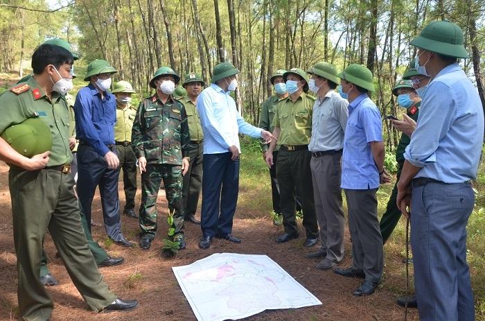 Lãnh đạo UBND Hà Tĩnh trực tiếp kiểm tra công tác PCCCR một số địa phương trong tỉnh.