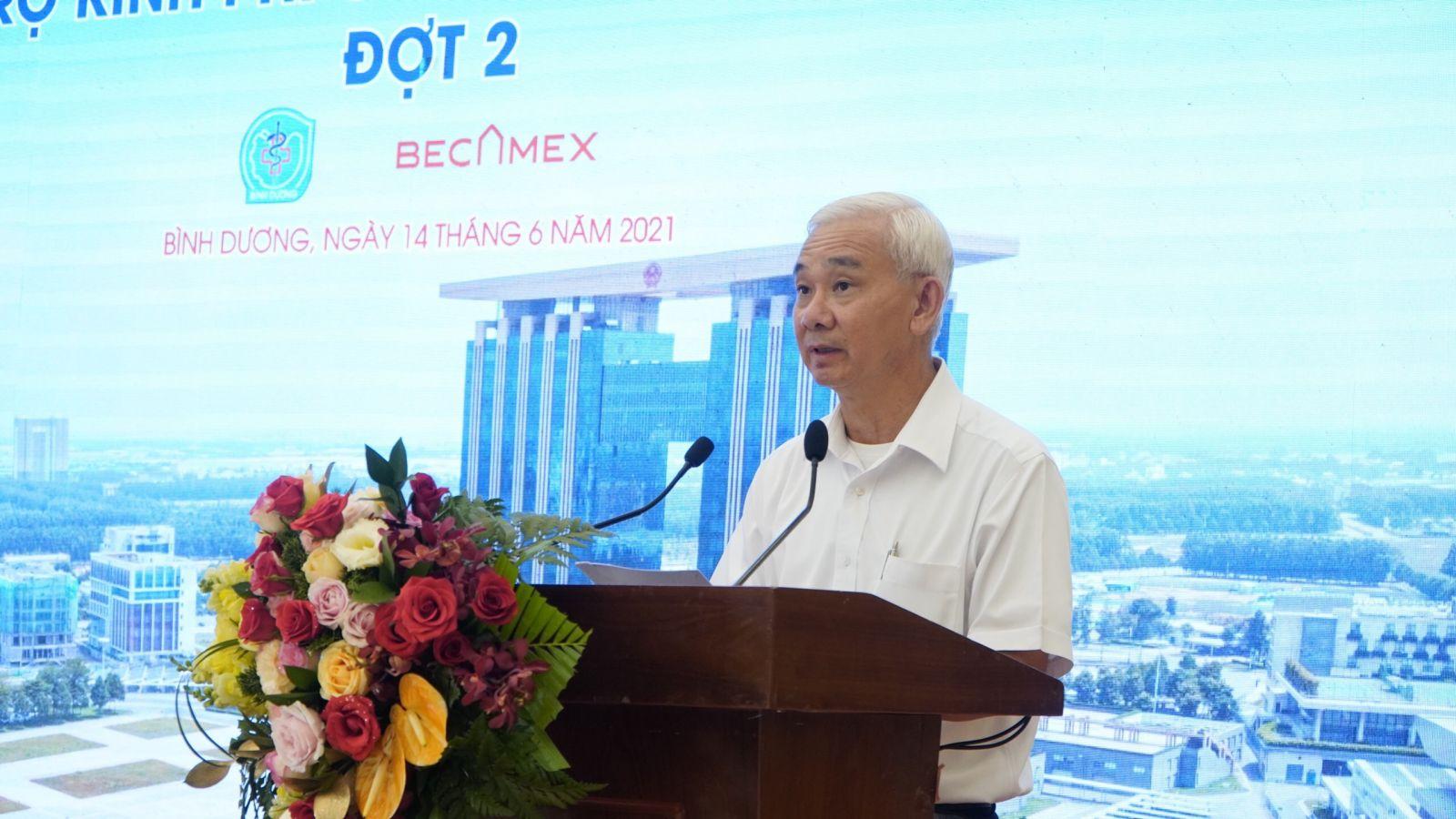 Ông Phạm Ngọc Thuận, Tổng Giám đốc Tổng Công ty Becamex IDC phát biểu tại buổi lễ ký kết