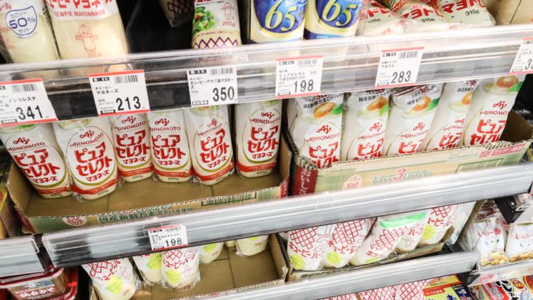 Công ty thực phẩm khổng lồ Ajinomoto sẽ tăng giá mayonnaise từ 1% đến 10% vào tháng tới. (Ảnh của Kosaku Mimura)