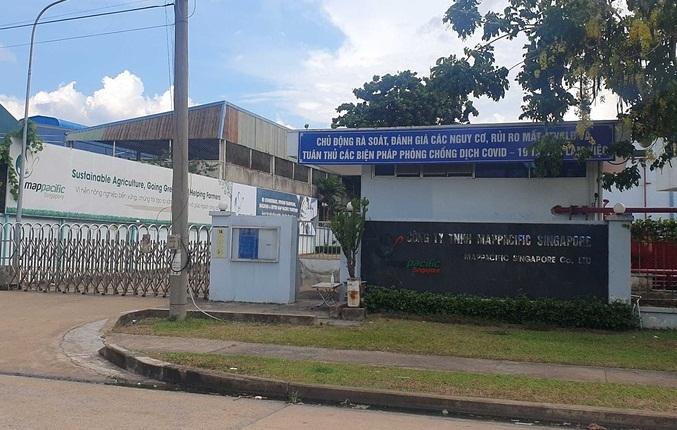 Công ty TNHH Map Pacific Singapore - Khu công nghiệp Amata, tạm ngưng hoạt động vì có ca F1 xuất hiện tại công ty này.
