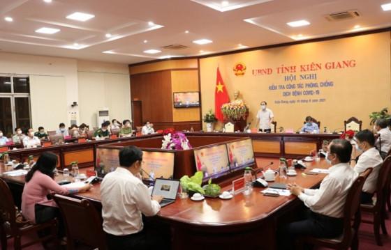 Hội nghị kiểm tra công tác phòng, chống dịch bệnh Covid-19 trên địa bàn tỉnh Kiên Giang