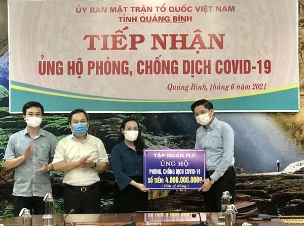 Quảng Bình: Ủy ban MTTQ Việt Nam tỉnh tiếp nhận hơn 21 tỷ đồng ủng hộ Quỹ phòng chống dịch Covid-19