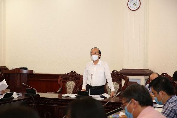 Thứ trưởng Phan Chí Hiếu phát biểu tại cuộc họp