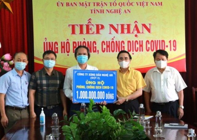 Nhiều doanh nghiệp xứ Nghệ ủng hộ quỹ phòng, chống dịch Covid-19