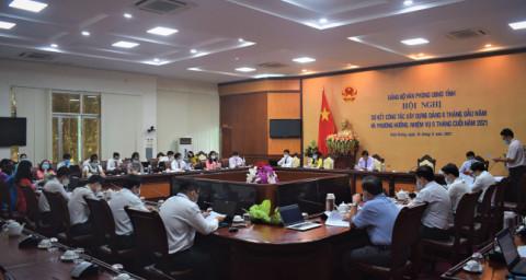 Đảng bộ tỉnh Kiên Giang sơ kết công tác xây dựng Đảng 06 tháng năm 2021