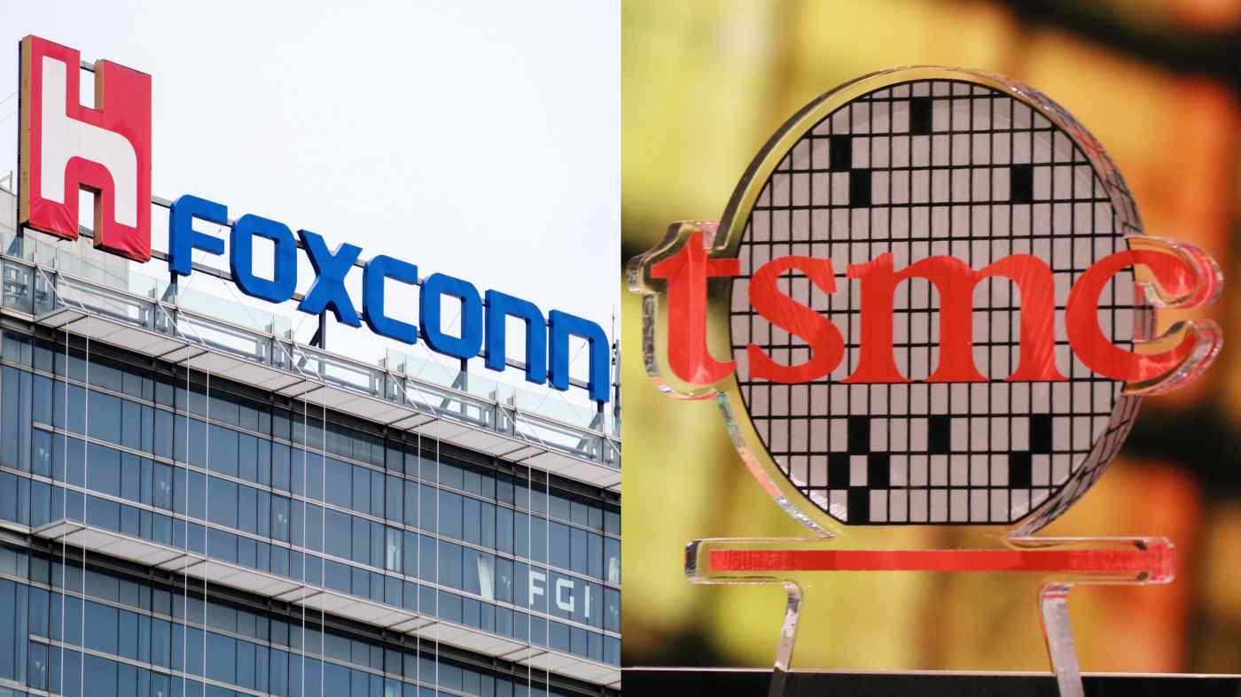 TSMC và Foxconn là những công ty Đài Loan đầu tiên được chính phủ cho phép nhập khẩu vắc xin COVID. (Nguồn ảnh của AP và Shinya Sawai)