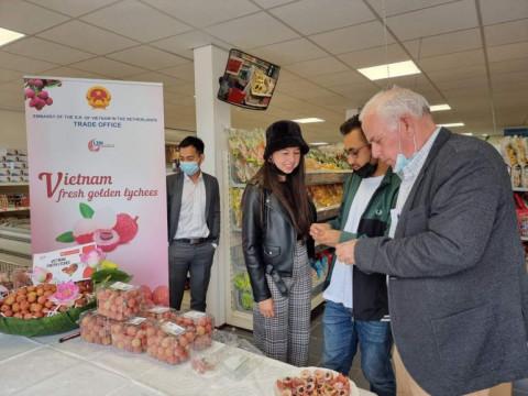 Quảng bá quả vải tươi Việt Nam tại Hà Lan